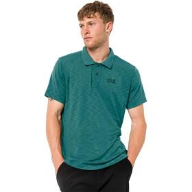 Jack Wolfskin Travel Polo Heren, emerald green